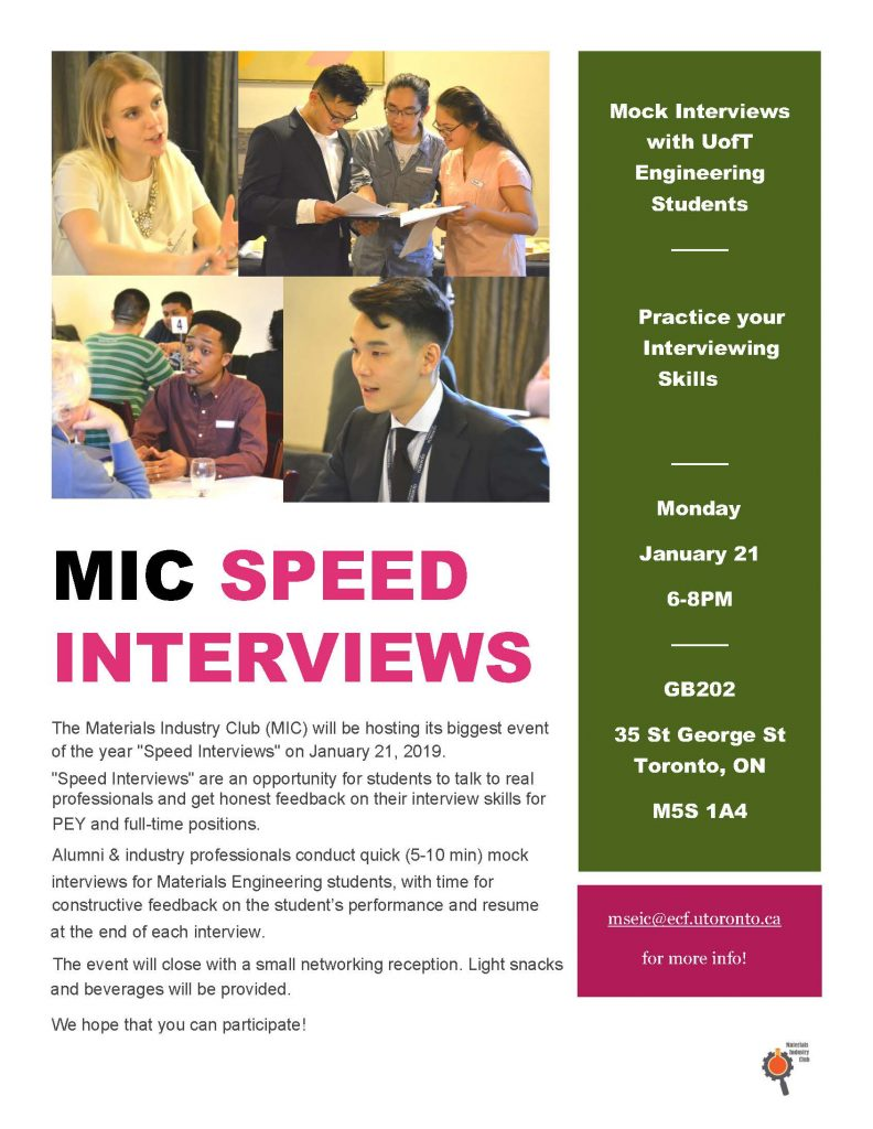 MIC Speed Interviews